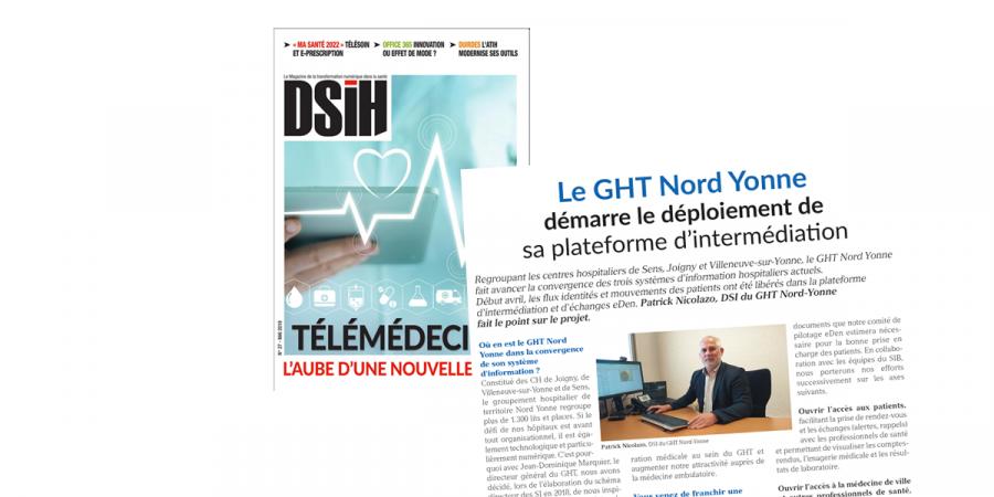 DSIH – le GHT Nord Yonne démarre le déploiement de sa plateforme d'intermédiation