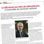 DSIH - Le SIB étend son offre de télémédecine à l'ensemble du territoire national