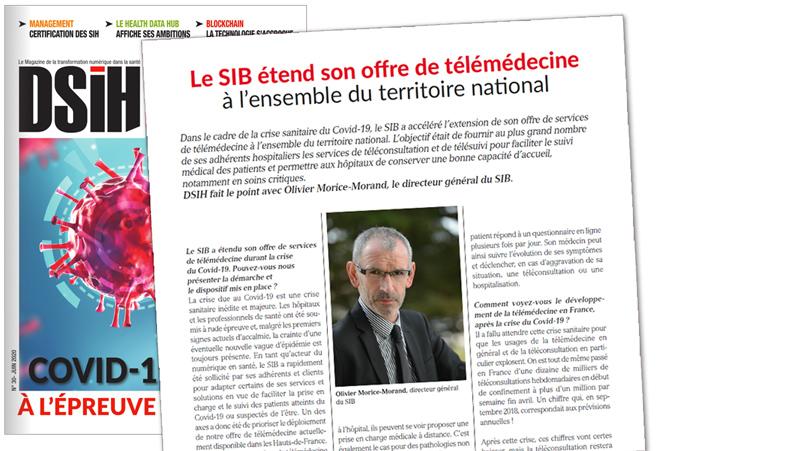 Le SIB étend son offre de télémédecine à l'ensemble du territoire national