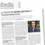 Hospitalia - Le SIB entre mobilisation et transformation