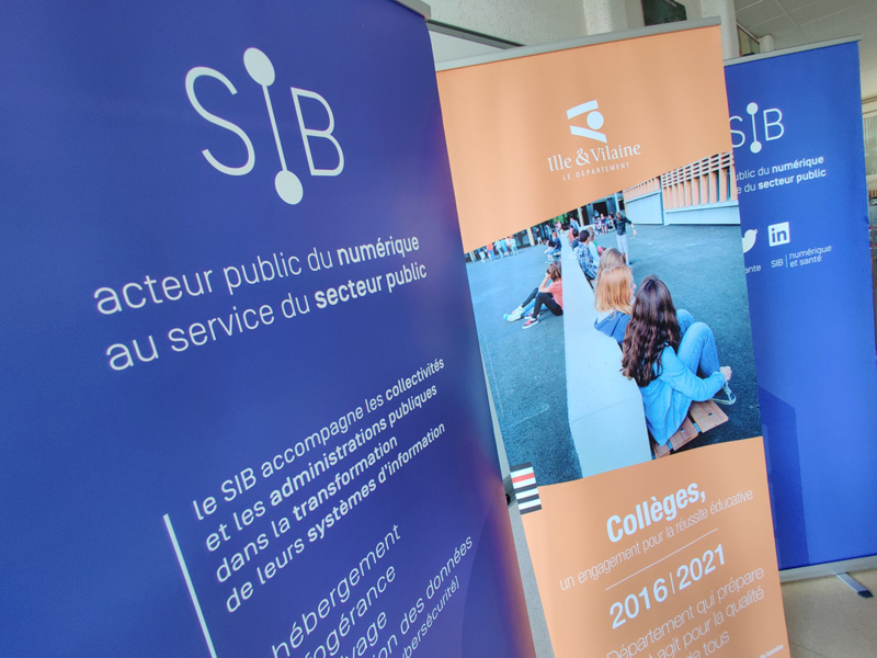 Le Département d'Ille-et-Vilaine et le SIB partenaires pour la modernisation des systèmes numériques des collèges bretilliens