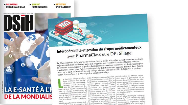 DSIH – Interopérabilité et gestion du risque médicamenteux  avec PharmaClass et le DPI Sillage
