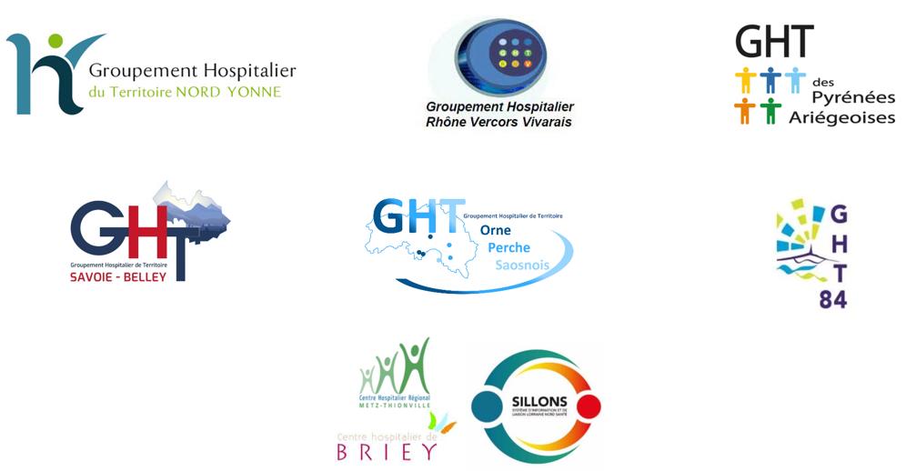 les GHT qui ont mis en place la plateforme eDen