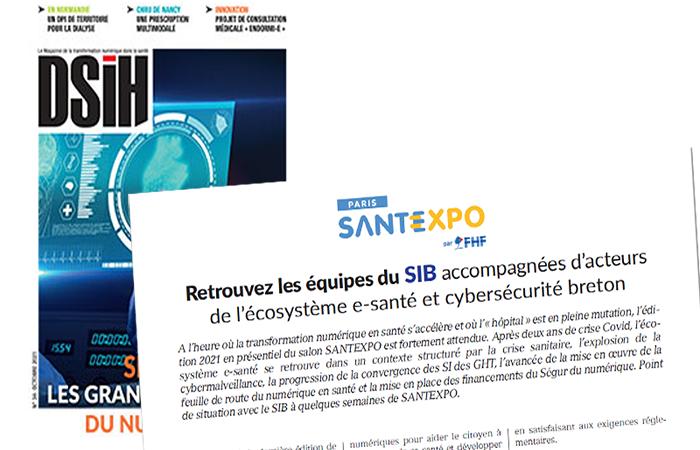 DSIH – SANTEXPO : retrouvez les équipes du SIB accompagnées de startups de l'écosystème e-santé et cybersécurité breton